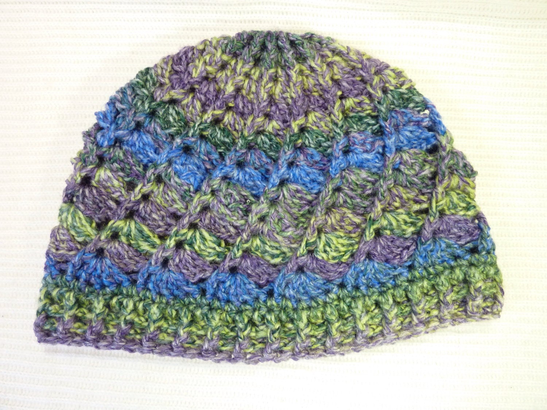 Crochet Hat Pattern Spiral : Hat Crochet spiral ladies beanie by SunnySpirals on Etsy