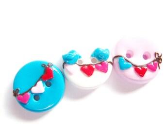 Sweetheart birds- (set of 3)