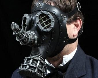 Rhino Gas Mask -- Steampunk Leather