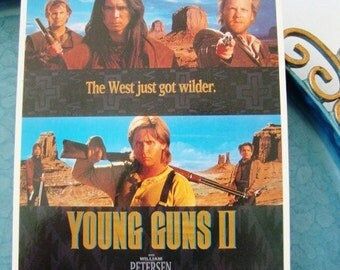 movie postcard young guns 2 vintage for scrapbooking