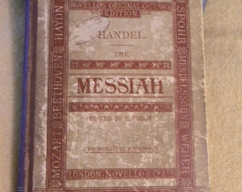 Handel The Messiah, A Vintage Book of Music