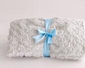Baby Boy Blanket Bedding Blue Rose Print, baby minky, Blue baby blanket, newborn baby blanket, baby shower boy gift, minky, baby boy blanket