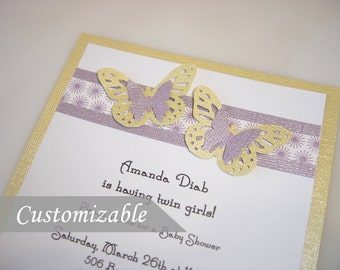 Twin Butterfly Invitations