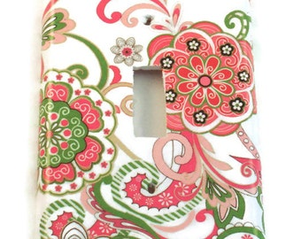 Light Switch Cover  Wall Decor   Light  Switchplate in Delphine   (184S)