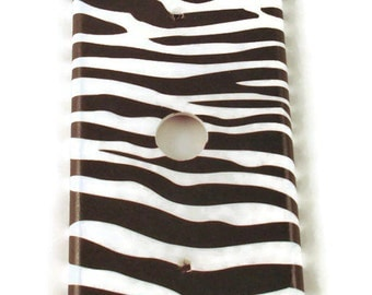 Cable Plate Light Switch Cover   Switchplate   Funky Switch Plate    Zebra  (086C)