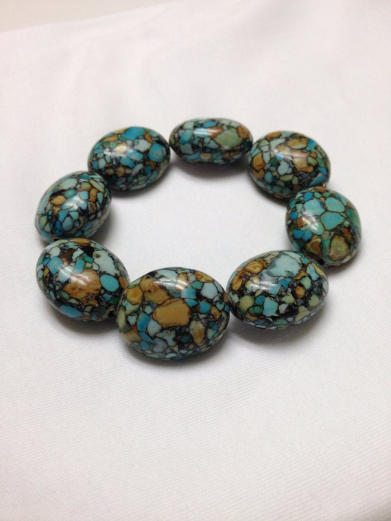 Mosaic Turquoise Bracelet By Leesielou On Etsy