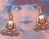 Silver Ox Plated Buddha Charms Pendants 454SOX x2