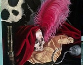 PETER PAN Captain Hook inspired Still Life Painting by Queenie