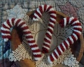 Crochet Candy Canes Ornies or Bowl Fillers Set of 3