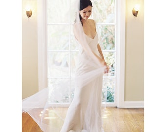 Wedding veil, long chapel bridal veil -  Style no. 2004