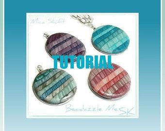 Tutorial - Polymer Clay Tutorial- Mica Shift Pendants- Beginner Tutorial- Polymer Clay Jewelry- Easy Tutorial