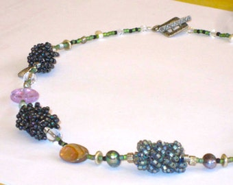 Abalone Wire Twist Necklace