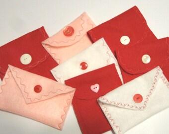Felt Envelopes - Set of 10