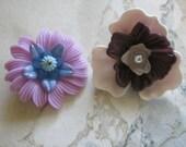 Vintage Plastic Spring Flowers