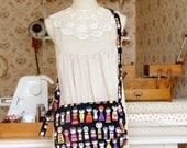 Kawaii Handmade Japanese Kokka Fabric Messenger Bag