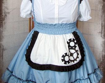 Steampunk lolita Alice in Wonderland cosplay skirt jsk