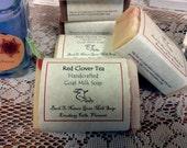 Red Clover Tea goat milk soap