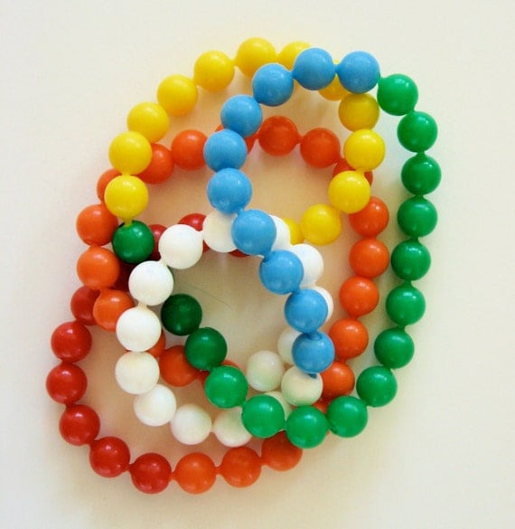 Vintage Pop Beads Toy Snap Together Color By Daisychainvintage