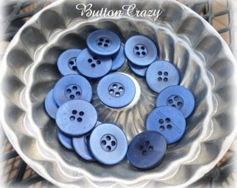 Vintage Blue Buttons for Sewing Crafts Scrapbooking Cardmaking