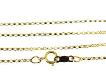 24 inch 14K Gold Filled Rolo Chain (AO085)