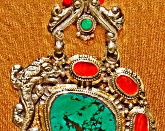 Tibetan Dragon Protection Necklace