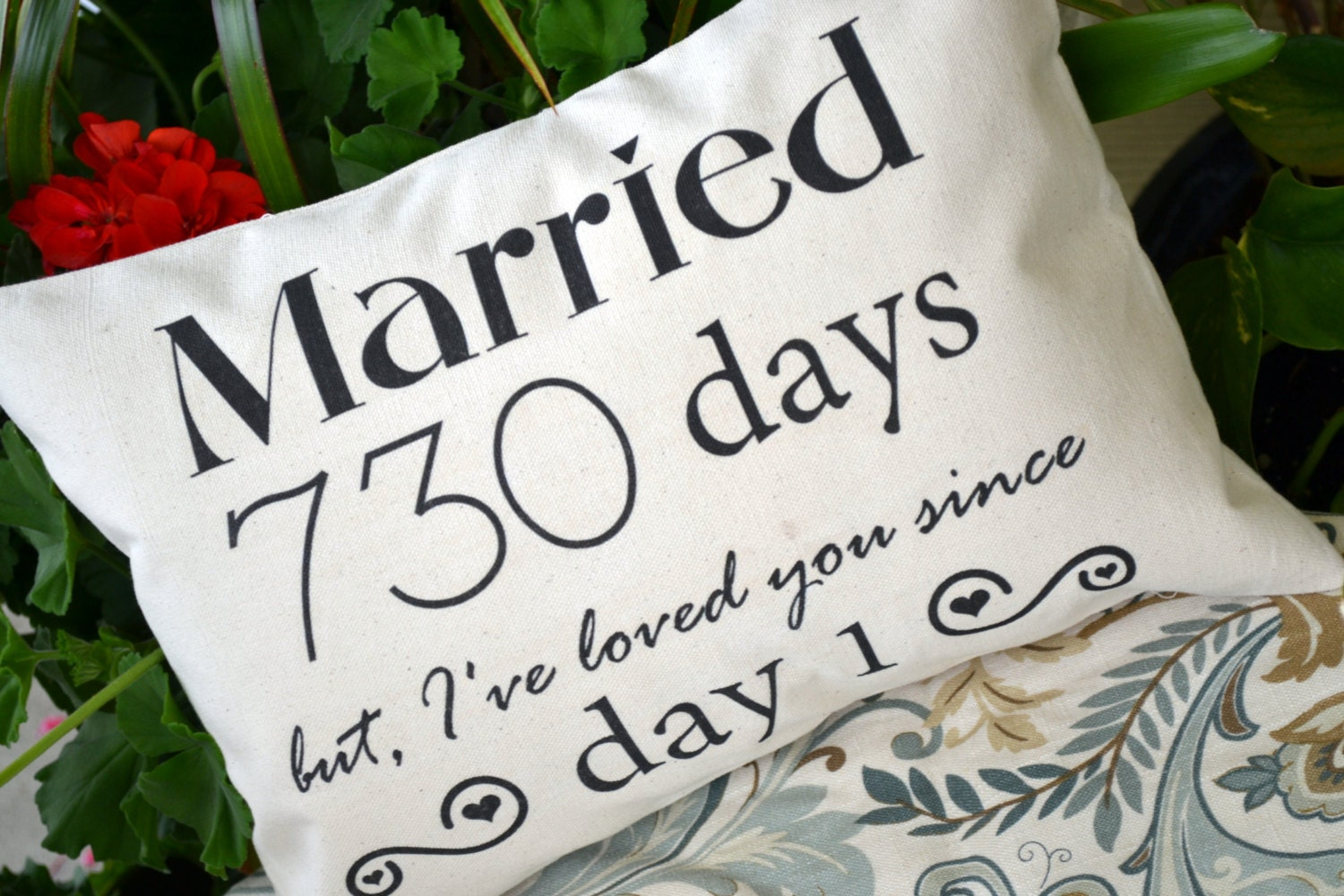 Unique Wedding Anniversary Gifts For Her: Personalized Pillow Cotton Anniversary Gift For Her Gift