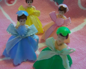 teeny tiny plastic doll cake toppers