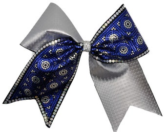 Geometric Spangle Cheer Bow Iron-On Bling Strip
