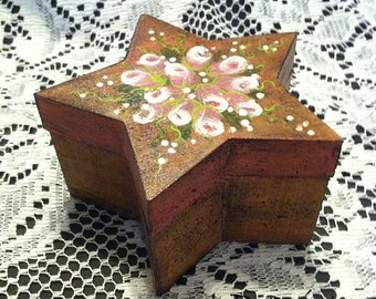 Hand Painted Magnetic Lid Star Box