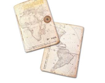 Journals, Travel Journals, Wedding Favors, Atlas Travel Journals,  Maps, Wedding Party, Thank You Gift,  Party Favors,  Africa, Travel