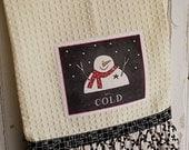 Snowman Ruffle Towel  - Download Pattern