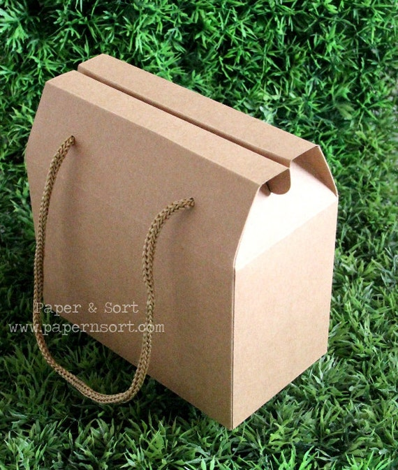 5 Small Vintage Style Gable Boxes Lunch Boxes By
