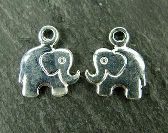 Sterling Silver Elephant Charm 10mm (CG5619)