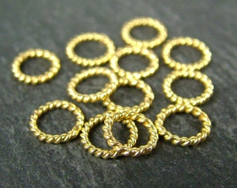 Gold Vermeil Closed Twisted Jump Ring 6mm (CG6021)