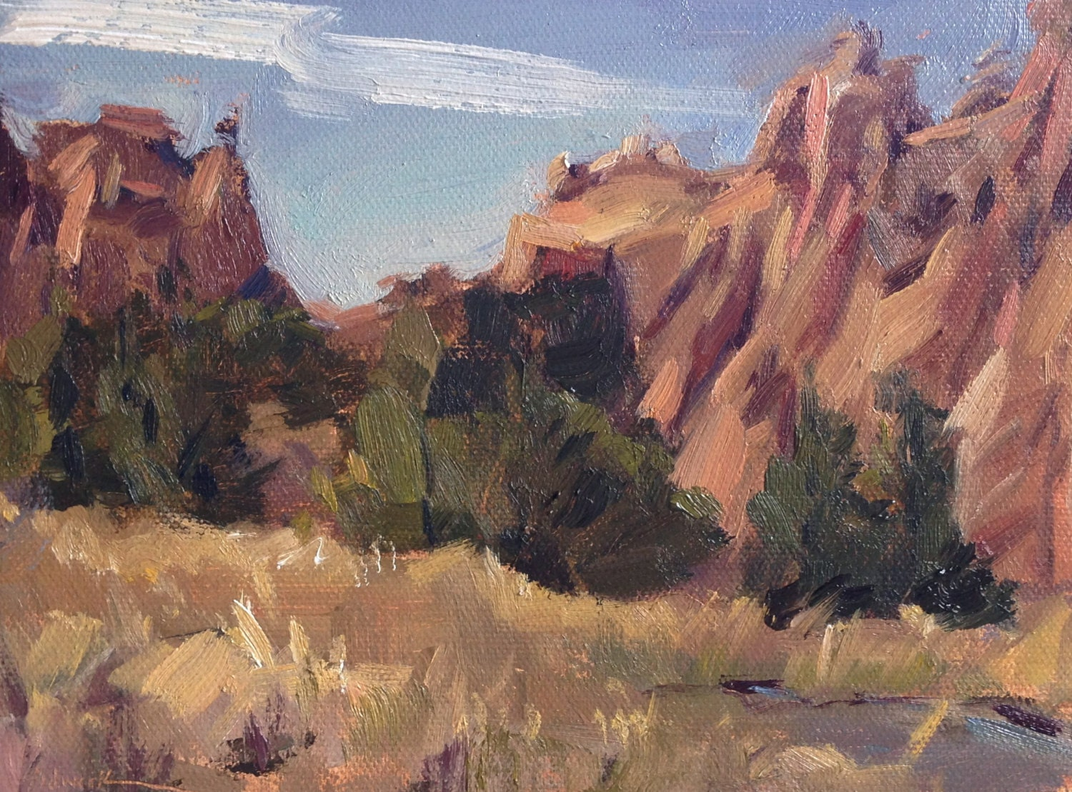 sale bend oregon landscape plein air oil painting by