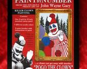 John Wayne Gacy - Pogo the Clown - Serial Killer - Paint by Number Kit ( 2014 )