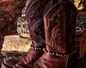 Genuine Aqua Terra & Tiger's Eye Gemstone  Western Cowboy Boot Jewelry