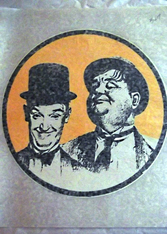 70s vintage laurel hardy iron on tee shirt transfer 30s for 70 s t shirt transfers