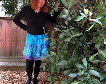 Mini 2 Tier Patchwork Skirt