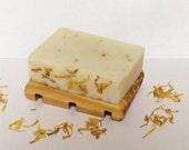 Handmade Honeysuckle  and Calendula Vegan Friendly Cold Processed Shea Butter Soap