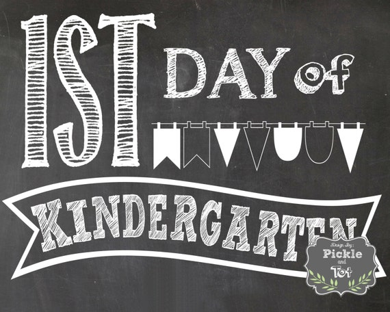 Massif image with regard to first day of kindergarten sign printable