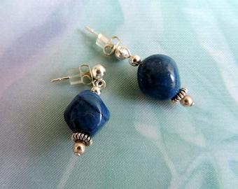 Denin Lapis Sterling Silver Post Earrings