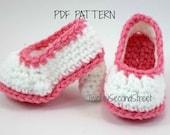 Crochet Baby Booties PDF PATTERN  for Baby High Heels