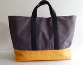 Sale - Golden Yellow Water-Resistant Tote - Shoulder bag, Diaper bag, Messenger bag, Tote, Travel bag, Gym bag, Women - ROBIN