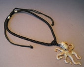 Butterscotch Spotted Octopus Pendant
