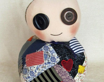 Pud - A Podgy Soft Rag Patchwork Doll