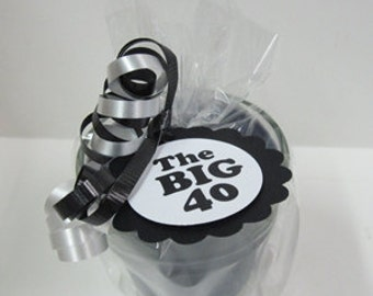 5 - The Big 40 40th Birthday Party Soy Candle Favors