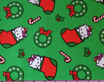 Holiday Stockings  Hello Kitty Fabric By The Yard FBTY