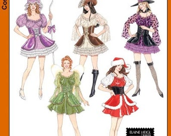 Sexy Tinkerbell Santa Bo Peep Costume Patterns Simplicity 4046 Size HH 6, 8, 10,12  Adult