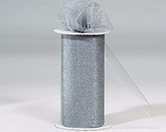 """108"""" x 50 yd  Bolt of Top Quality Made In The USA Tulle Bolt -Charcoal"""
